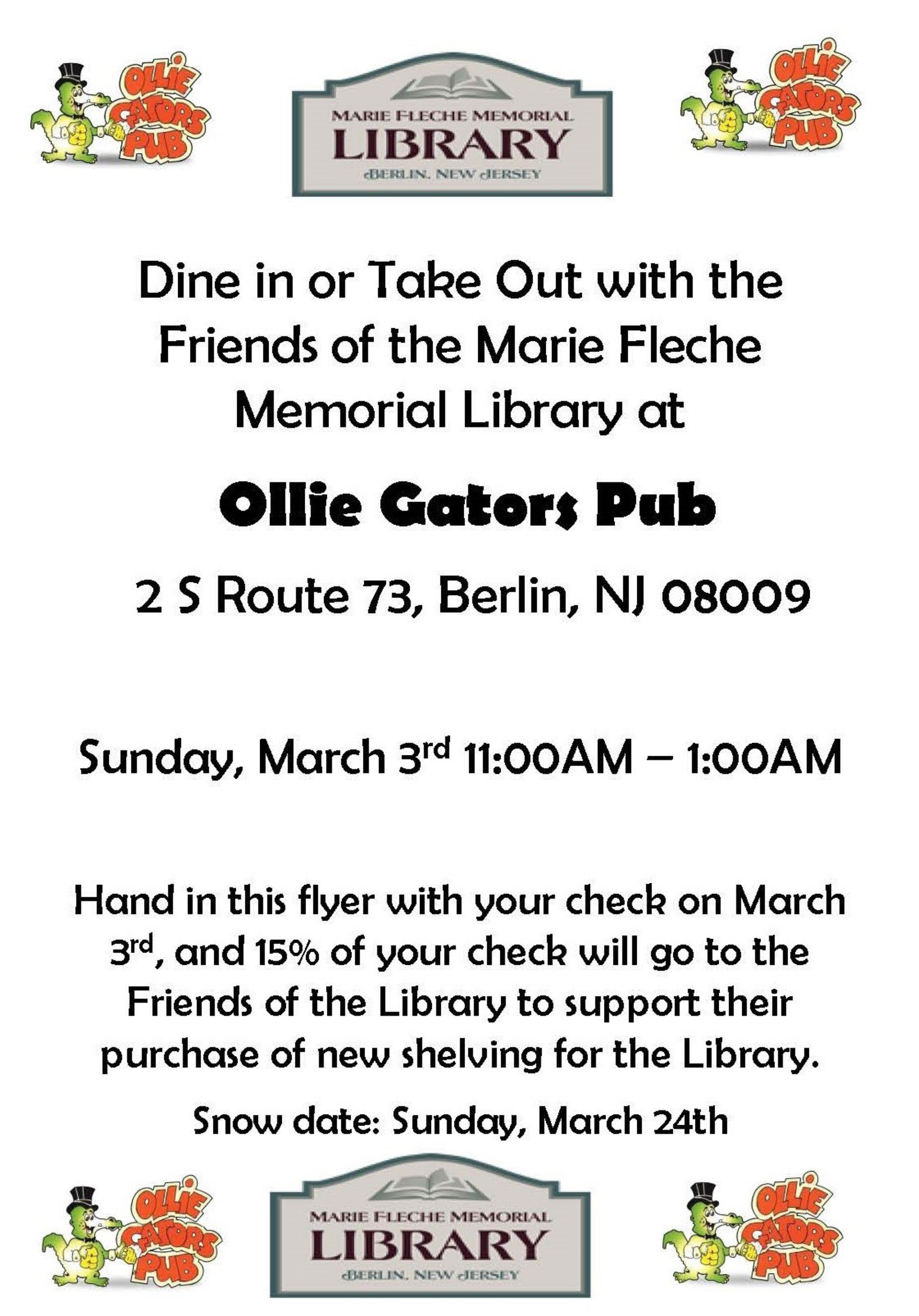 Previous Fundraisers Marie Fleche Memorial Library